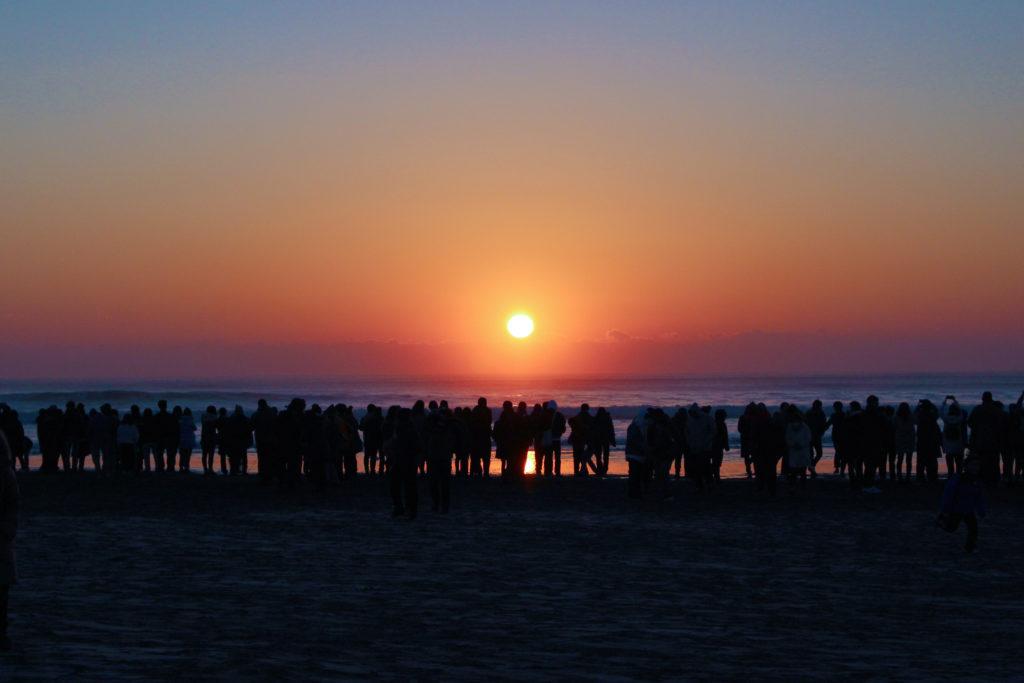 片貝海岸の初日の出2