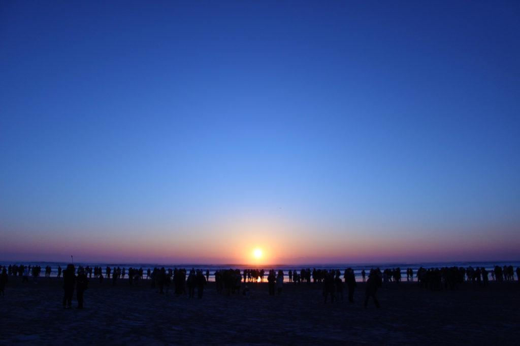 片貝海岸の初日の出