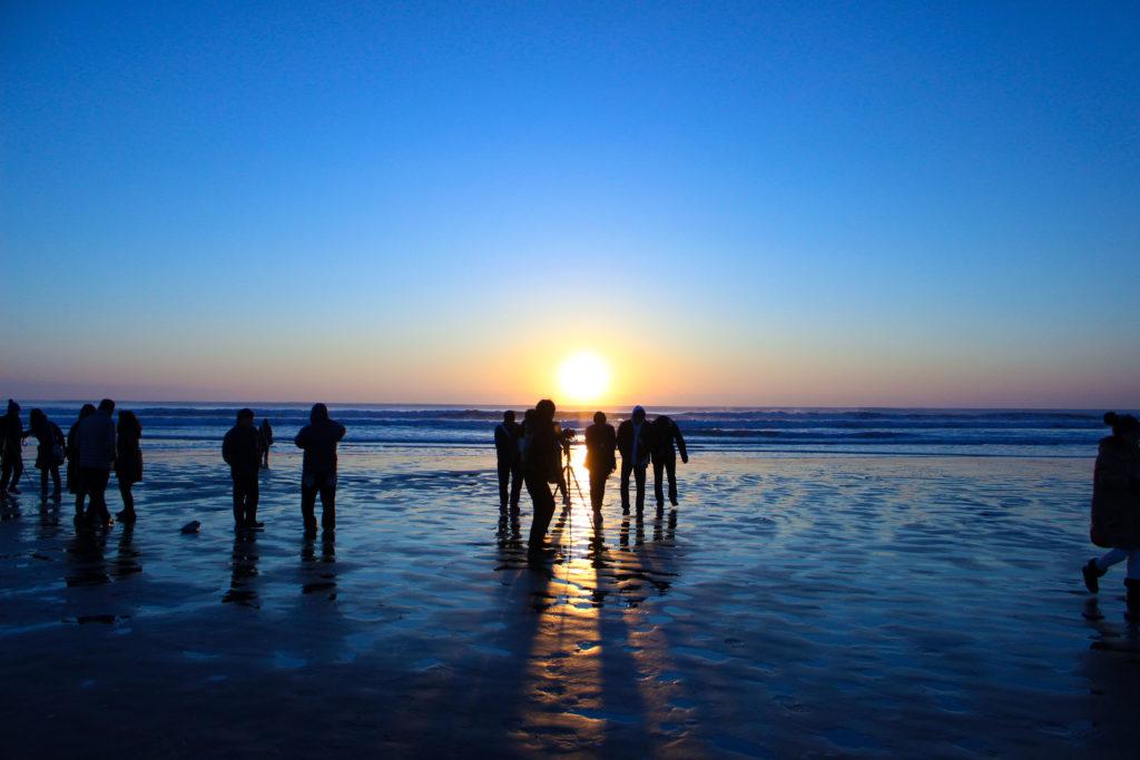 片貝海岸の初日の出9