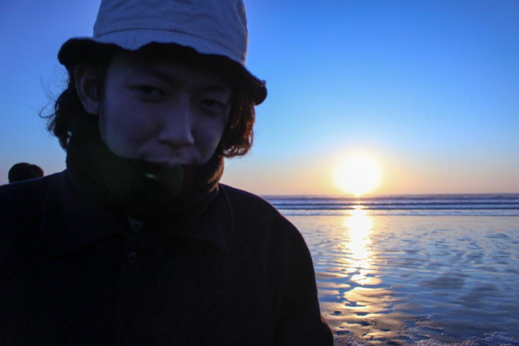 片貝海岸の初日の出6
