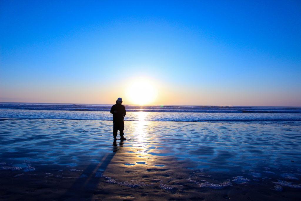 片貝海岸の初日の出5